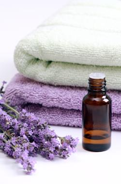 Lavendar with towels